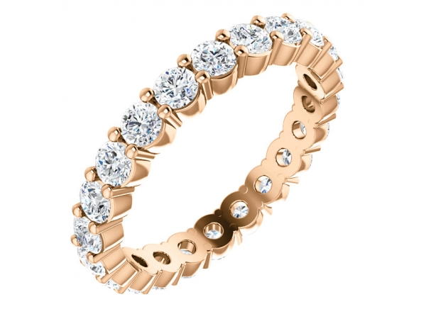 Eternity Band - 14K Rose 1 1/6 CTW Diamond Eternity Band Size 5