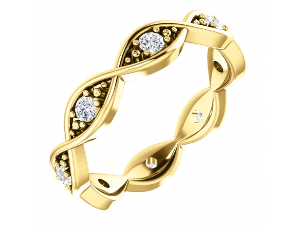 Anniversary Bands - 18K Yellow Gold Anniversary Band