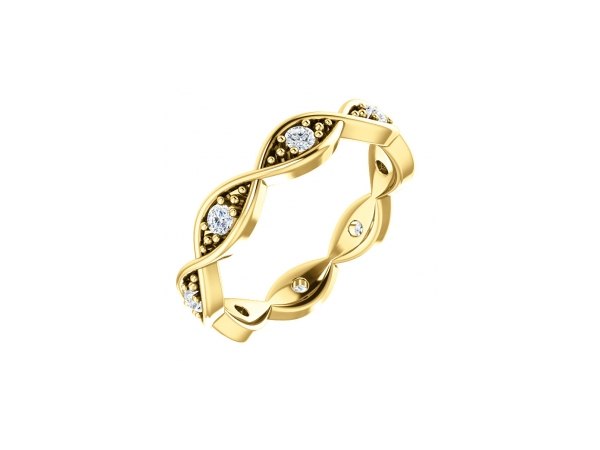 14K Yellow Gold Anniversary Band - 14K Yellow Gold Diamond Anniversary Band