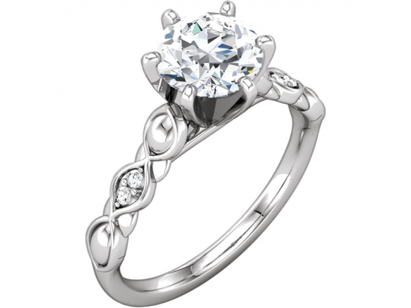 Engagement Rings - 10K White Gold & 14K White Gold Engagement Ring