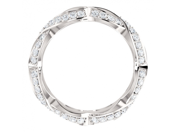 Bridal - Sculptural-Inspired Engagement  Ring  Matching Band - image #2