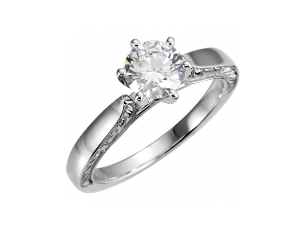 Engagement Rings - Sterling Silver Engagement Ring