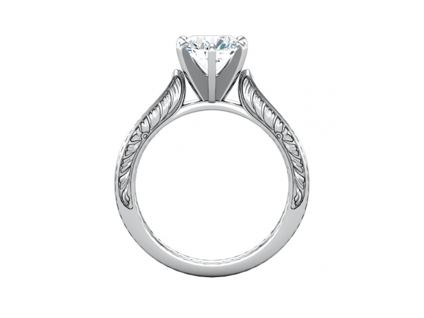Engagement Rings - 14K White Gold Engagement Ring - image #2