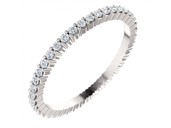 Wedding & Anniversary Bands - Platinum Anniversary Band - image 2