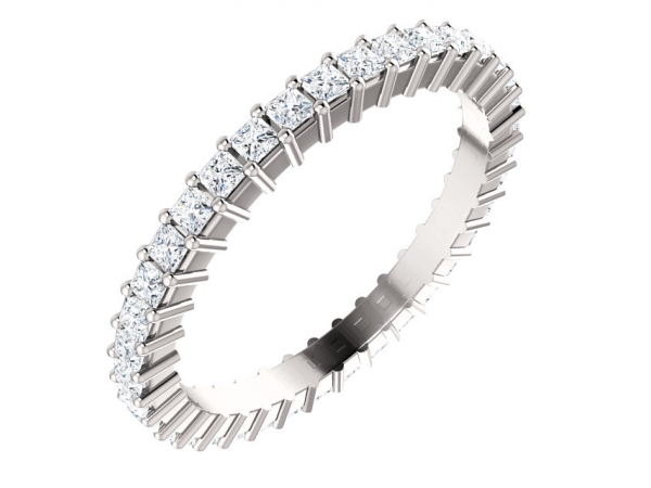 Eternity Band - 14K White 9/10 CTW Diamond Square Eternity Band Size 6