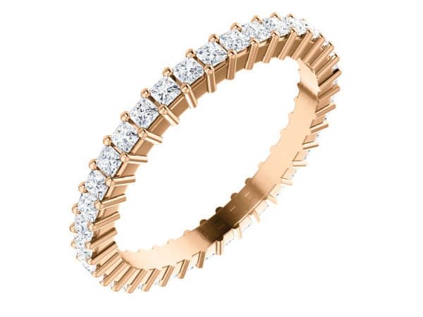Diamond Bands - 14K Rose Gold Anniversary Band