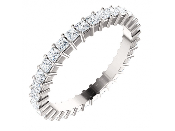 Eternity Band - Platinum 1 1/5 CTW Diamond Square Eternity Band Size 7