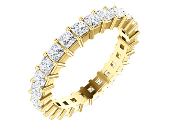 Diamond Bands - 14K Yellow Gold Anniversary Band