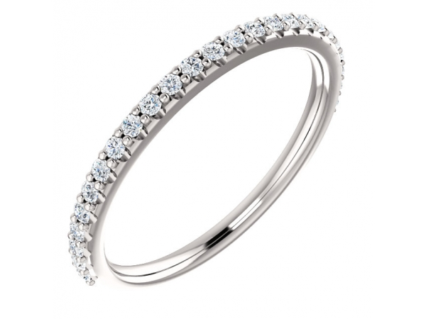 Diamond Wedding Bands - Accented Band