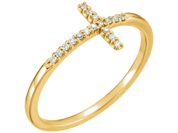 Rings - Sideways Cross Ring