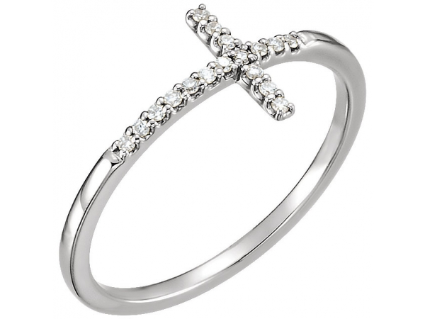Sideways Cross Ring  by Stuller