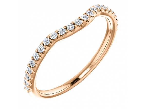 Diamond Fashion Rings - Contour Band