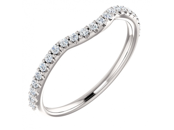 Contour Band  - Platinum 1/5 CTW Diamond Contour Band