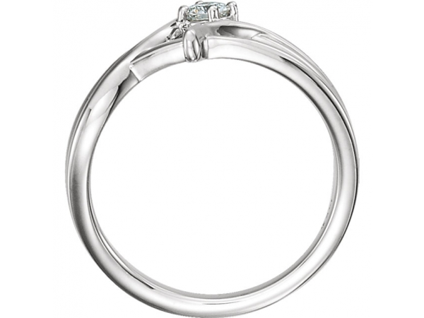Diamond Fashion Rings - Bypass Ring - image #2