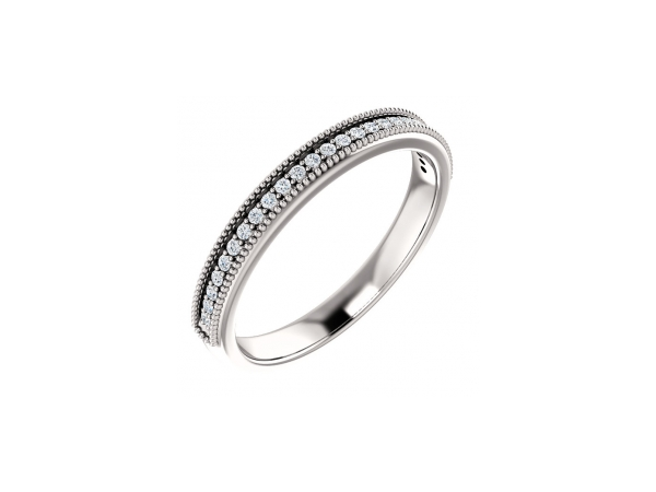 Diamond Anniversary Rings - Platinum Anniversary Band