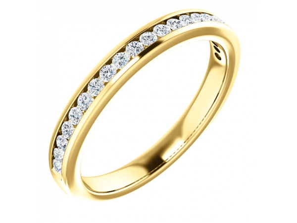Diamond Bands - Channel-Set Anniversary Band