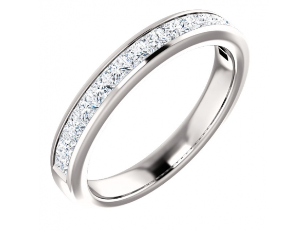 Diamond Wedding Bands - Channel-Set Anniversary Band