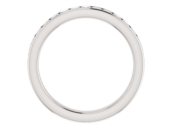 Rings - Channel-Set Anniversary Band - image #2