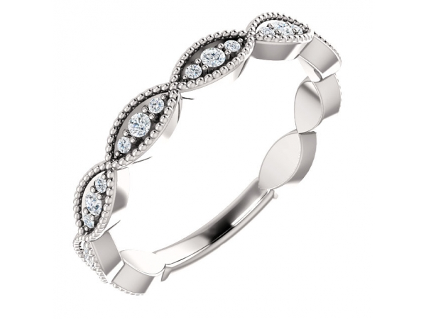 Diamond Bands - Infinity-Inspired Anniversary Band