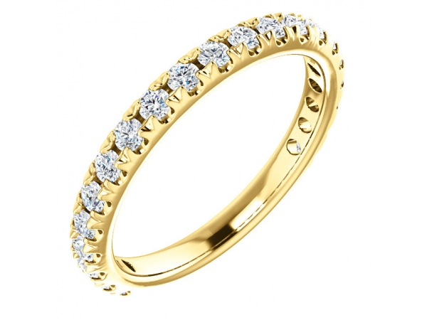 French-Set Anniversary Band - 14K Yellow 5/8 CTW Diamond French-Set Anniversary Band
