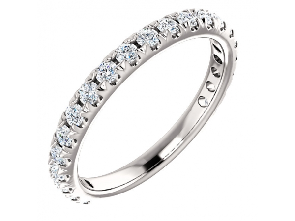 Diamond Bands - French-Set Anniversary Band