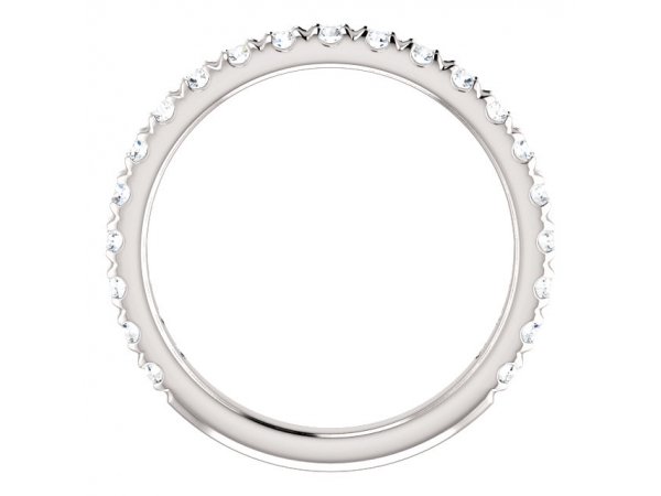 Diamond Bands - French-Set Anniversary Band - image #2