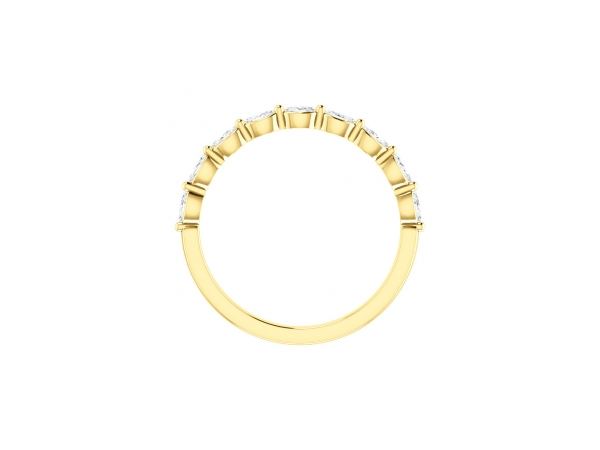 Anniversary Rings - 14K Yellow Gold Anniversary Band - image #2