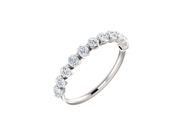 Diamond Wedding Bands - Platinum Anniversary Band