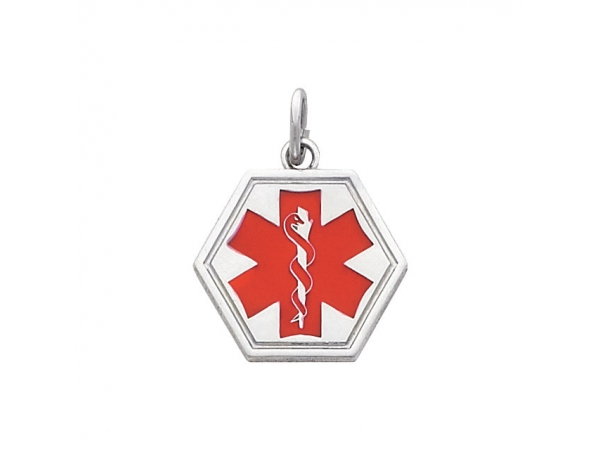Medical I.D. Pendant - Sterling Silver Medical I.D. Pendant