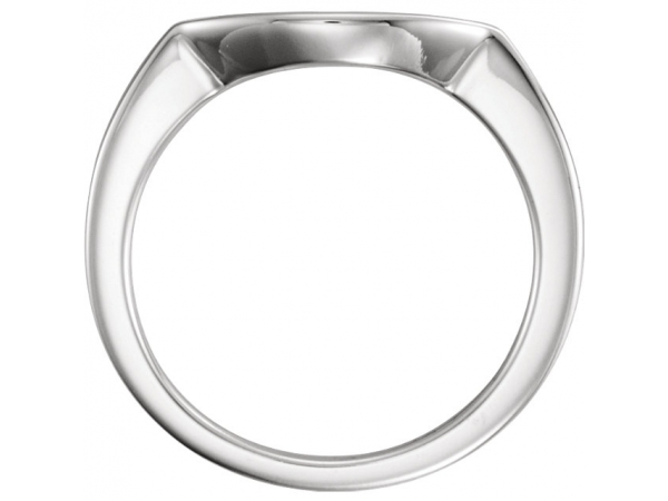Wedding Bands - Three-Stone Engagement Ring Matching Band - image 2