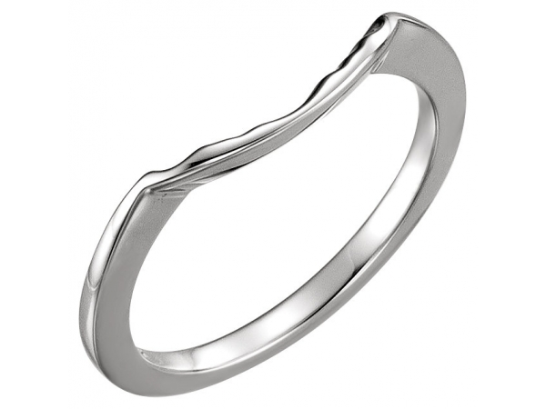 Anniversary Bands - Three-Stone Engagement Ring Matching Band
