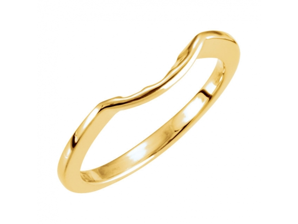 Three-Stone Engagement Ring Matching Band - 18K Yellow Band for 5.8mm Engagement Ring