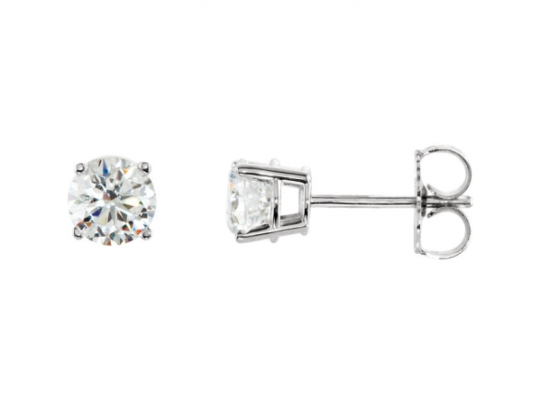 Gemstone Earrings - Imitation White Cubic Zirconia Earrings