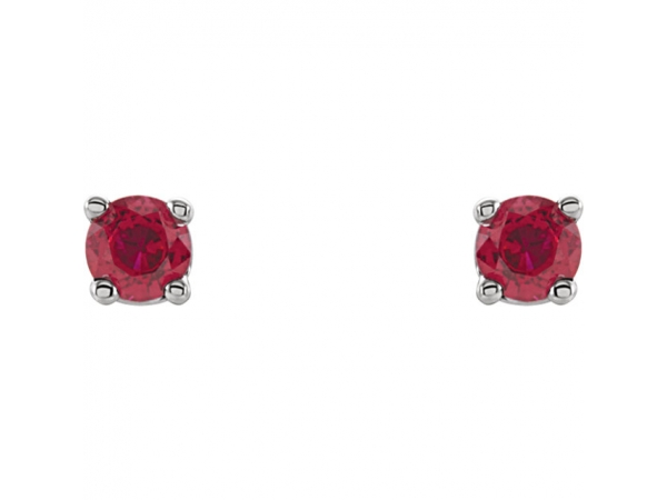 Gemstone Earrings - Genuine Ruby Earrings - image #2