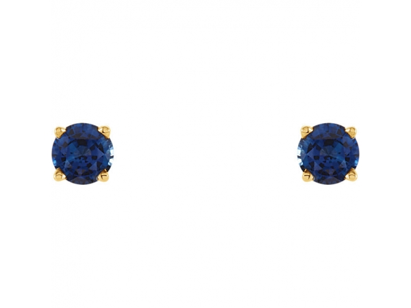 Gemstone Earrings - Genuine Blue Sapphire Earrings - image 2