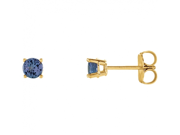 Gemstone Earrings - Genuine Tanzanite Earrings