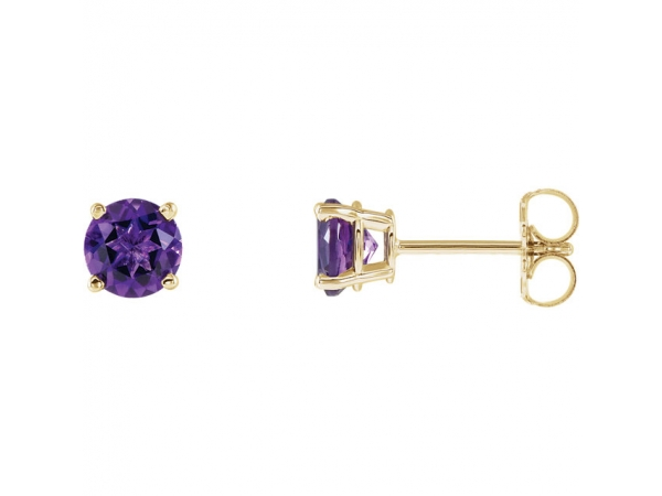Earrings Genuine Amethyst