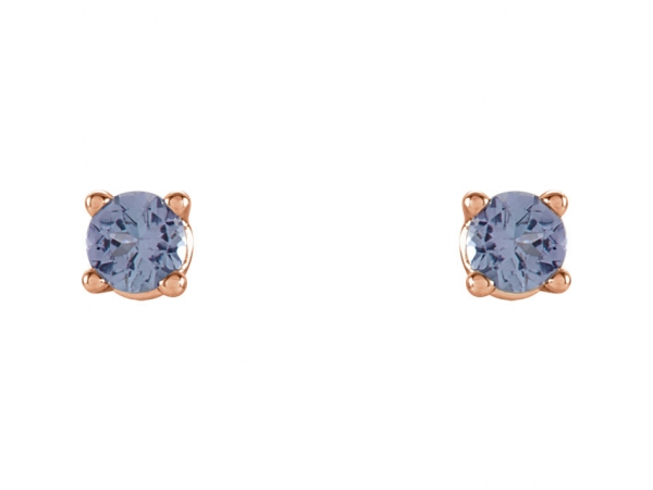 Gemstone Earrings - Genuine Tanzanite Earrings - image #2