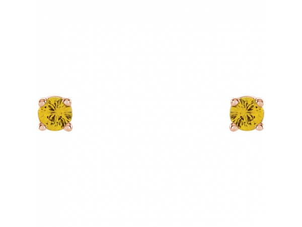 Gemstone Earrings - Genuine Yellow Sapphire Earrings - image #2