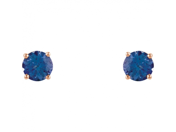 Gemstone Earrings Genuine Tanzanite Image 2