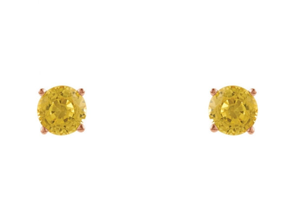 Gemstone Earrings - Genuine Yellow Sapphire Earrings - image 2