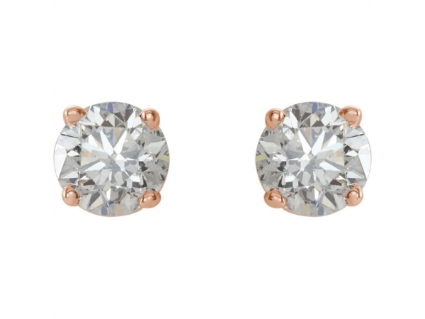 Diamond Earrings - Genuine Diamond Earrings - image #2