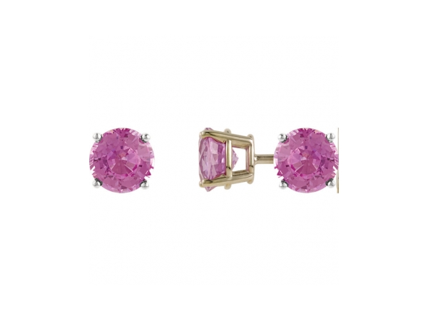 Gemstone Earrings - Genuine Pink Tourmaline Earrings - image #2