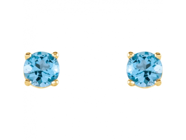 Gemstone Earrings - Genuine Sky Blue Topaz Earrings - image #2