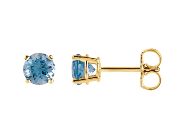 Gemstone Earrings - Genuine Swiss Blue Topaz Earrings