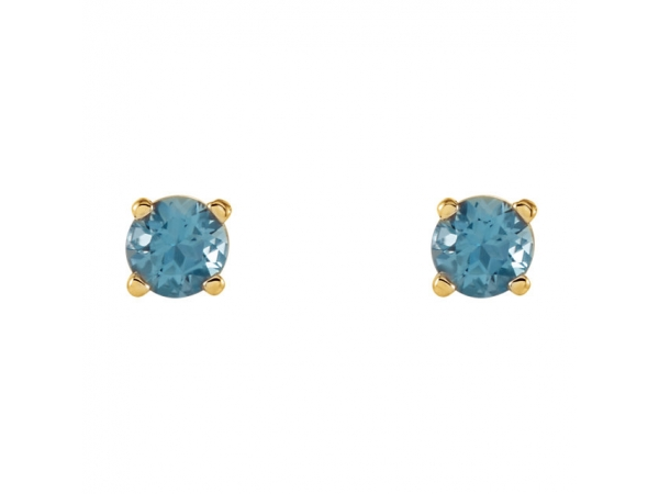 Gemstone Earrings - Genuine Swiss Blue Topaz Earrings - image #2