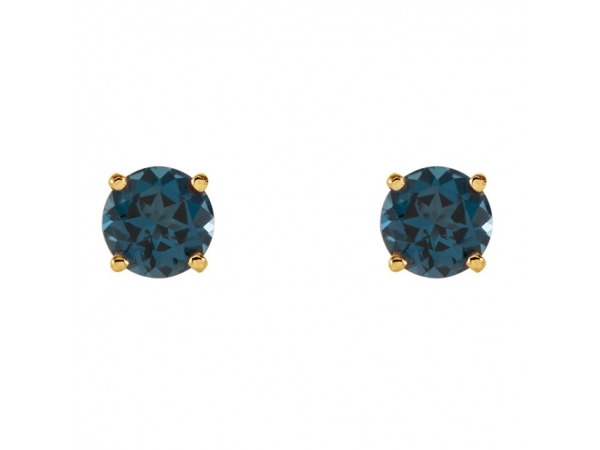 Gemstone Earrings - Genuine London Blue Topaz Earrings - image #2