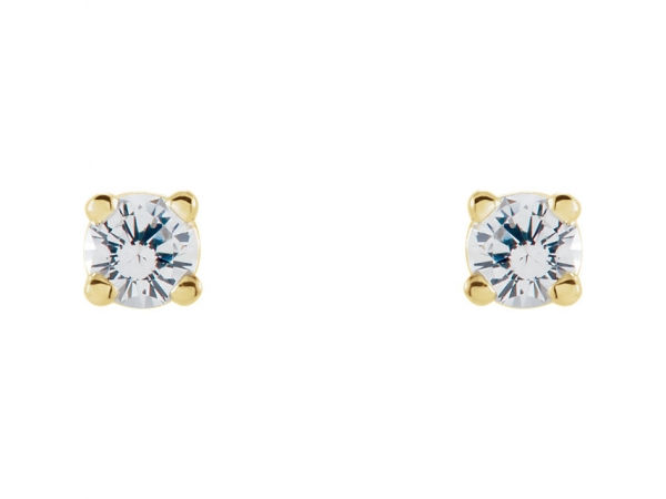 Gemstone Earrings - Genuine White Sapphire Earrings - image #2