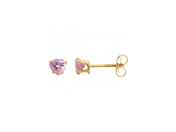 Colored Stone Earrings - Imitation Pink Cubic Zirconia Earrings