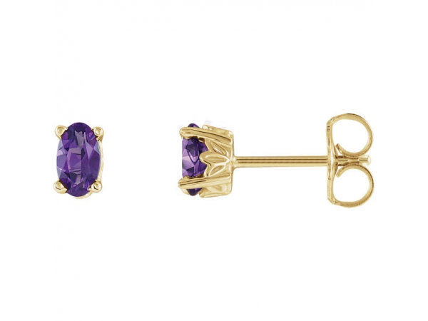 Gemstone Earrings - Amethyst Earrings